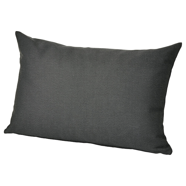 HÅLLÖ Ryghynde, ude, sort, 62x42 cm