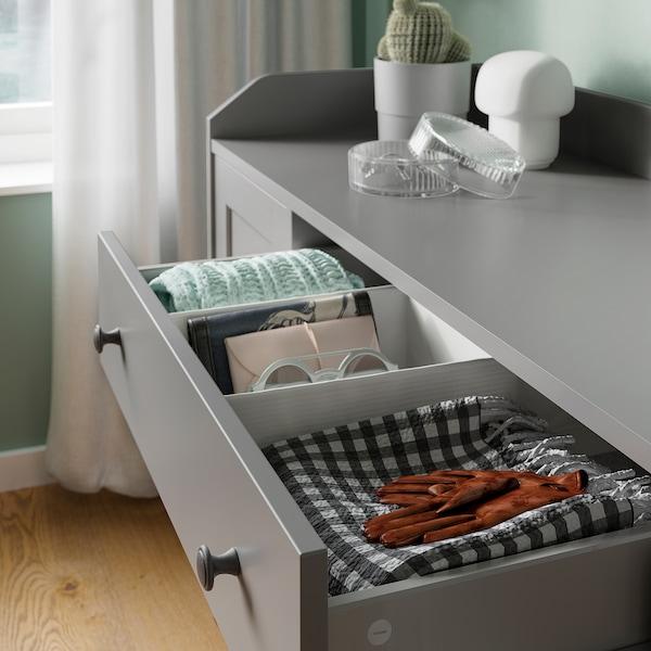 HAUGA Skænk, grå, 140x84 cm