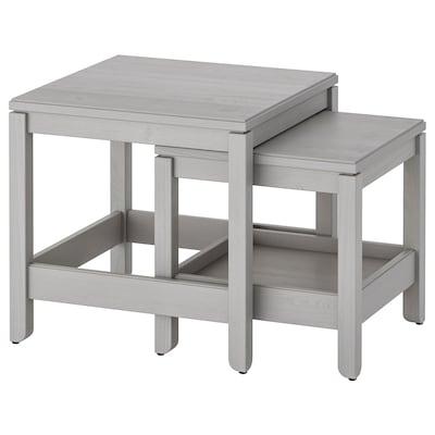 HAVSTA Indskudsborde, sæt med 2, grå
