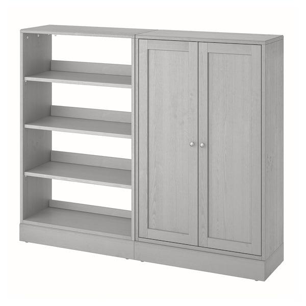 HAVSTA Opbevaringskombination, grå, 162x37x134 cm