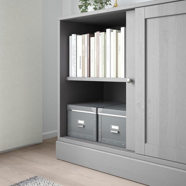 HAVSTA Skab med sokkel, grå, 121x47x89 cm