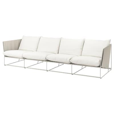 HAVSTEN 4-pers. sofa, inde/ude, beige, 341x94x90 cm