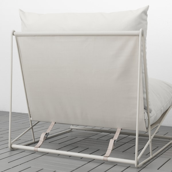 HAVSTEN Lænestol, inde/ude, beige, 83x94x90 cm