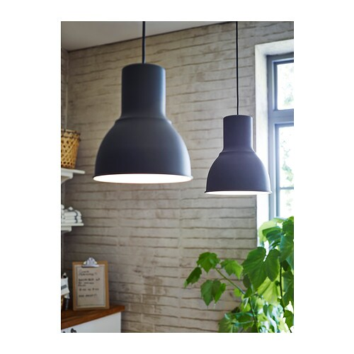 HEKTAR Loftlampe - mørkegrå, 38 cm - IKEA