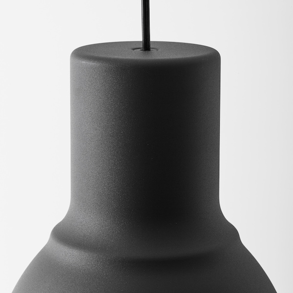 HEKTAR Loftlampe, mørkegrå, 22 cm
