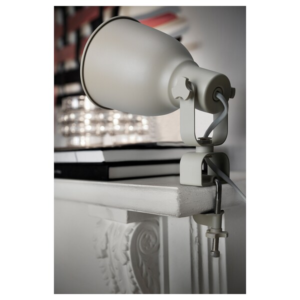 HEKTAR væg-/klemspot beige 7 W 22 cm 15 cm 11 cm 330 cm