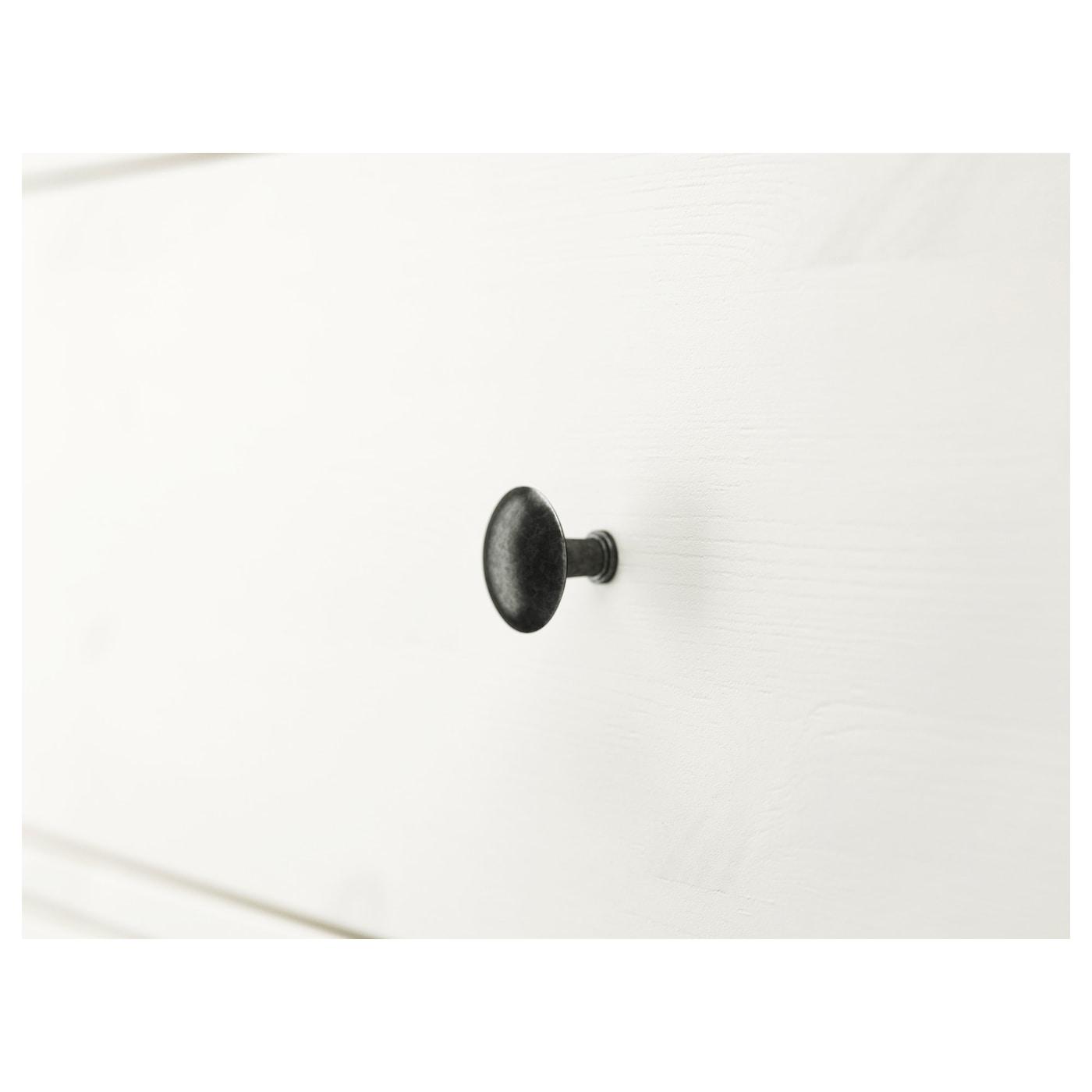 HEMNES Kommode 3 skuffer, hvid bejdse, 108x96 cm