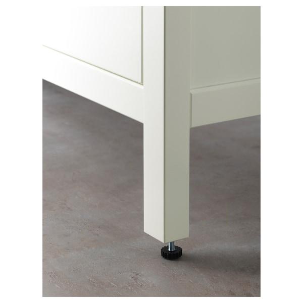 HEMNES Skab til vask med 2 skuffer, hvid, 100x47x83 cm
