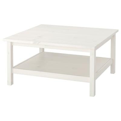 HEMNES Sofabord, hvid bejdse, 90x90 cm