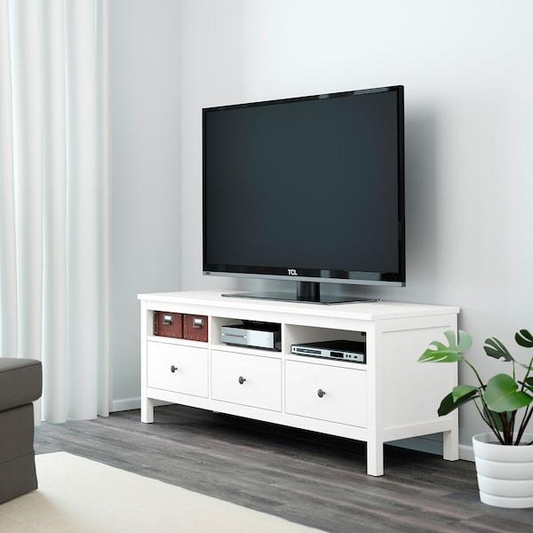 HEMNES Tv-bord, hvid bejdse, 148x47x57 cm