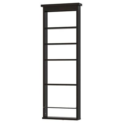 HEMNES væghylde sortbrun 42 cm 10 cm 118 cm