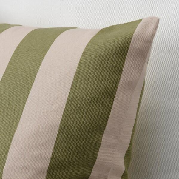 HILDAMARIA Pudebetræk, grøn natur/stribet, 50x50 cm