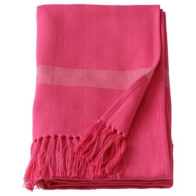 HILLEGÄRD Plaid, håndlavet/pink, 110x170 cm