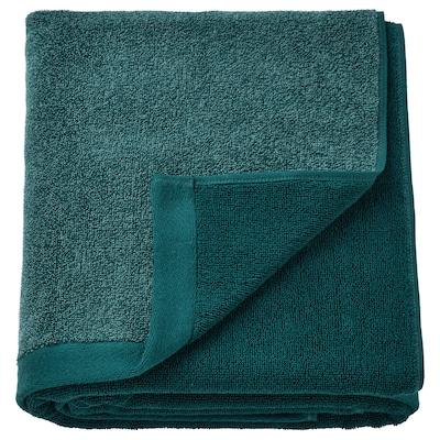 HIMLEÅN Badehåndklæde, turkis/meleret, 100x150 cm