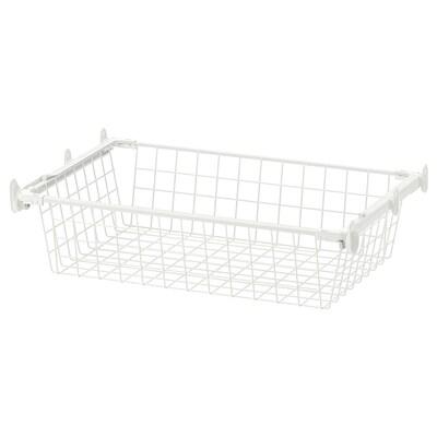 HJÄLPA Trådkurv med udtræksskinne, hvid, 60x40 cm