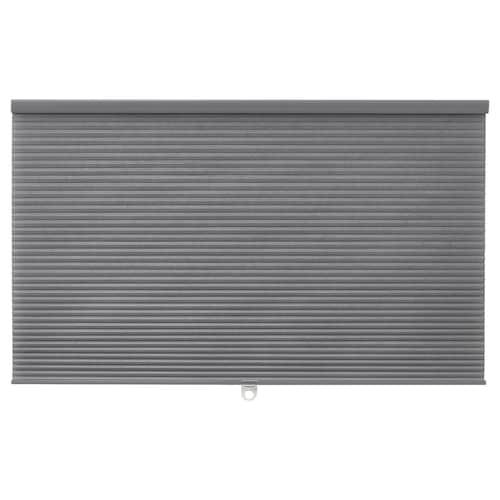 HOPPVALS plissegardin grå 155 cm 110 cm 1.71 m²