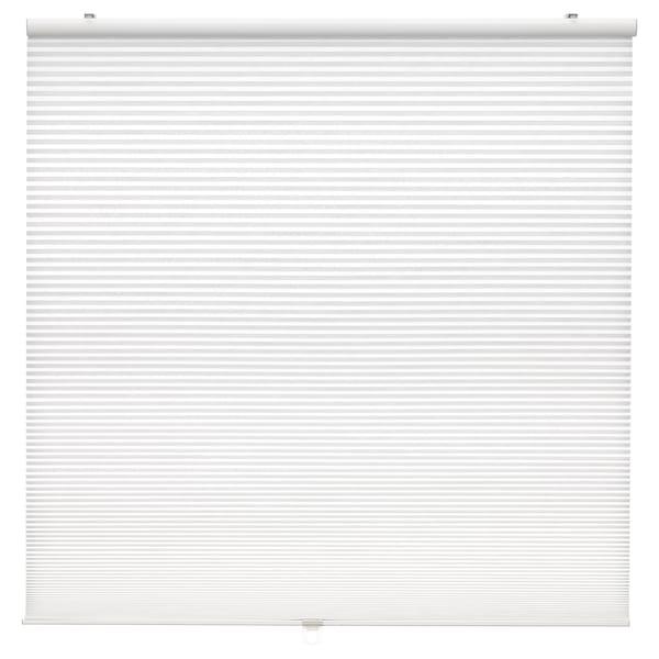 HOPPVALS Plissegardin, hvid, 80x210 cm