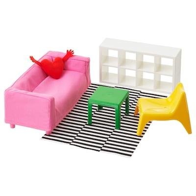 HUSET Dukkemøbler, opholdsrum