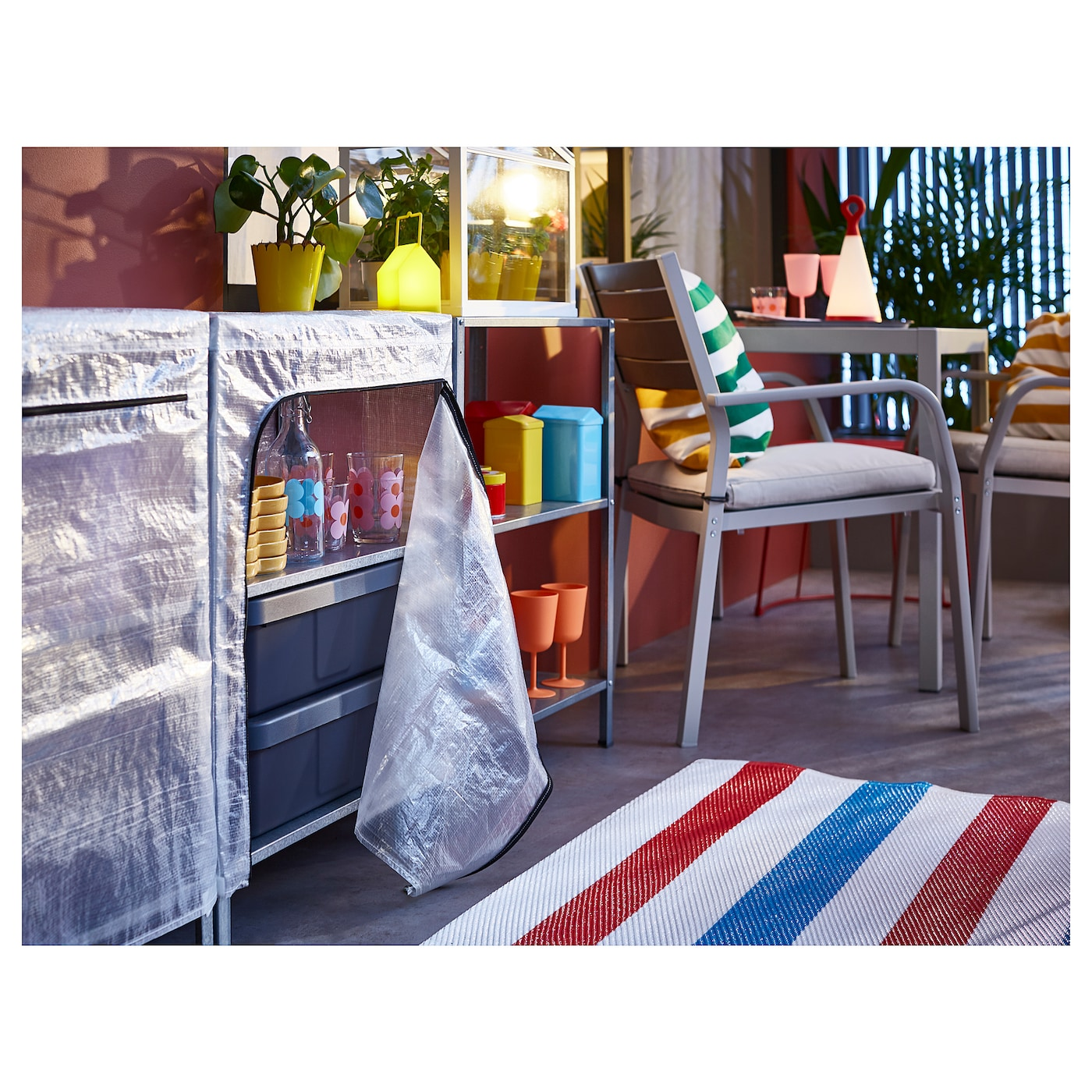 Picture of: Hyllis Reoler Med Overtraek Transparent 180x27x74 Cm Ikea