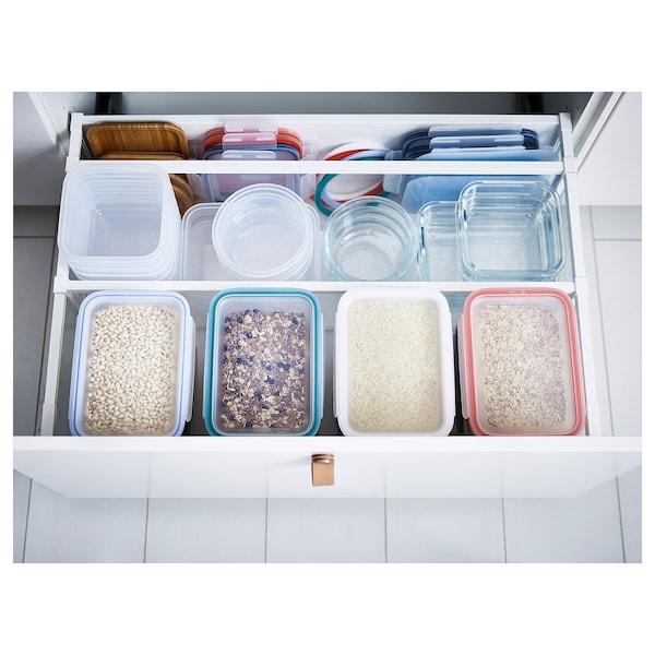 IKEA 365+ madopbevaringsboks med låg firkantet/plast 15 cm 15 cm 7 cm 750 ml