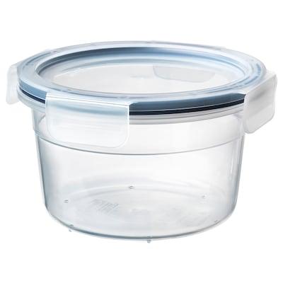 IKEA 365+ Madopbevaringsboks med låg, rundt/plast, 750 ml