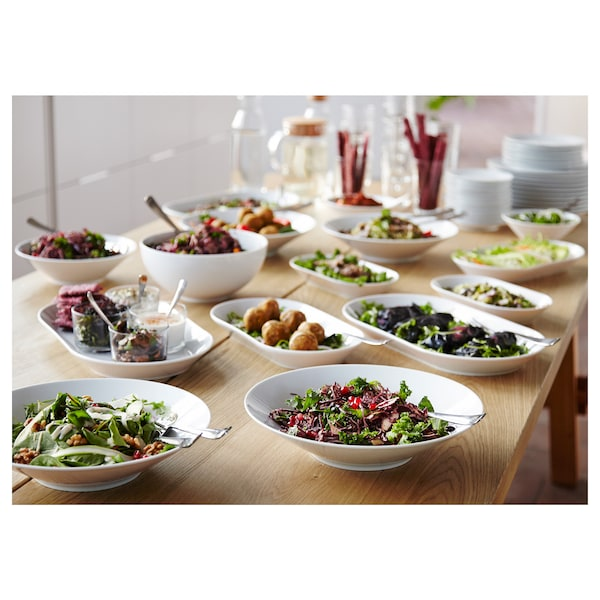 IKEA 365+ Serveringsfad, hvid, 31x17 cm