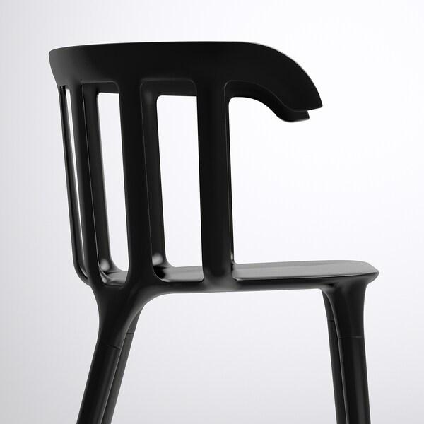 IKEA PS 2012 stol sort 110 kg 52 cm 46 cm 76 cm 41 cm 40 cm 46 cm