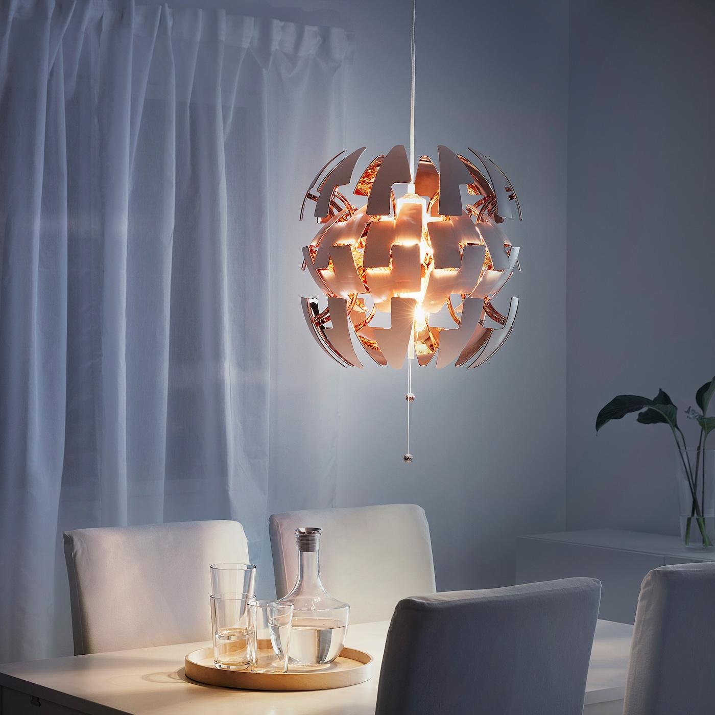 Ikea Ps 2014 Loftlampe Hvid Kobberfarvet 35 Cm Ikea