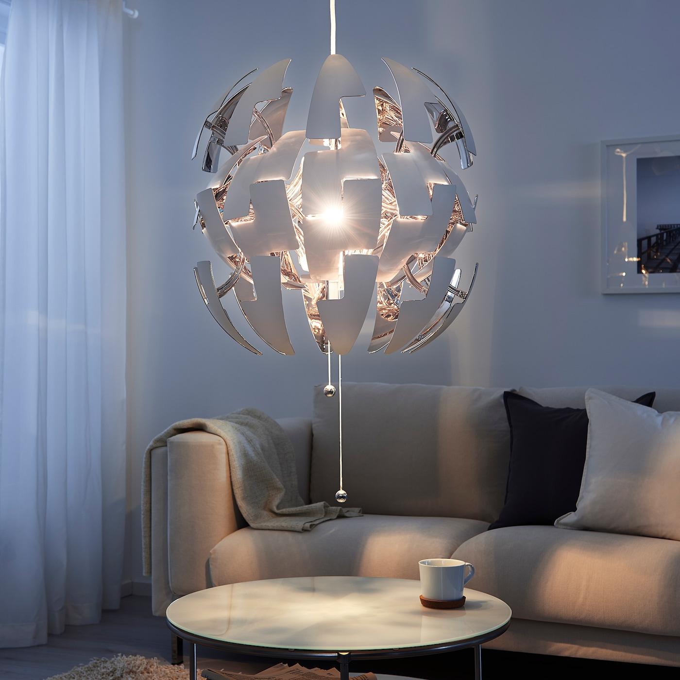 IKEA PS 2014 Loftlampe hvid, sølvfarvet 52 cm