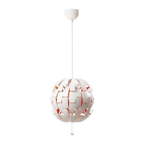 IKEA PS 2014 Loftlampe , hvid, orange Diameter: 35 cm Kabellængde: 150 cm