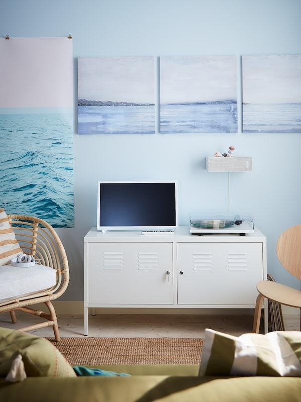 IKEA PS Skab, hvid, 119x63 cm