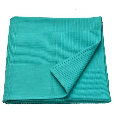 INDIRA sengetæppe turkis 250 cm 150 cm