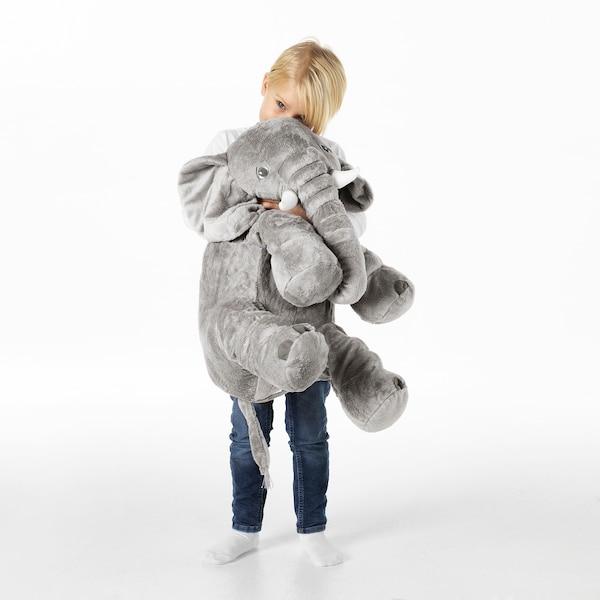 JÄTTESTOR Tøjdyr, elefant/grå