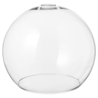 JAKOBSBYN Loftlampeskærm, klart glas, 30 cm