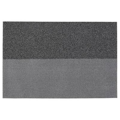 JERSIE Dørmåtte, mørkegrå, 60x90 cm