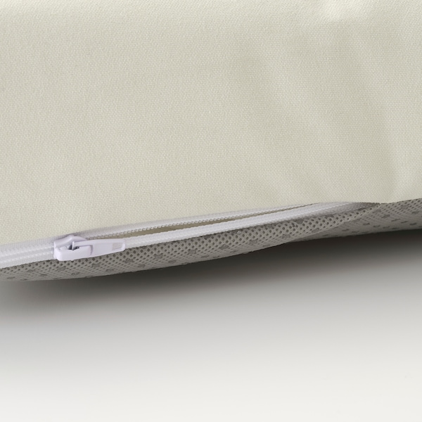 JUTHOLMEN Lænestol, ude, mørkegrå/Kuddarna beige, 65x73x71 cm