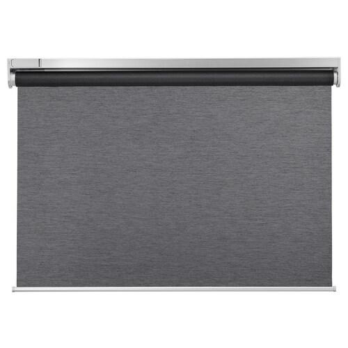 KADRILJ rullegardin trådløst/batteridrevet grå 60 cm 64.3 cm 195 cm 1.17 m²