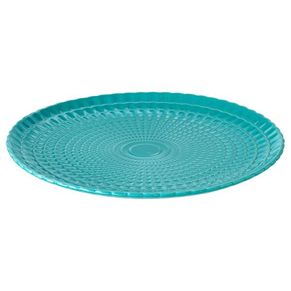 KALASFINT serveringsfad turkis 3 cm 34 cm