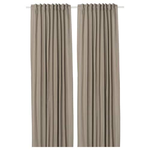 IKEA KALKFLY Lysdæmpende gardiner, 2 stk.