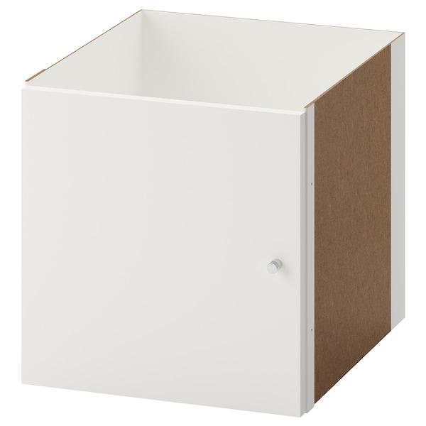 KALLAX Indsats med låge, hvid, 33x33 cm