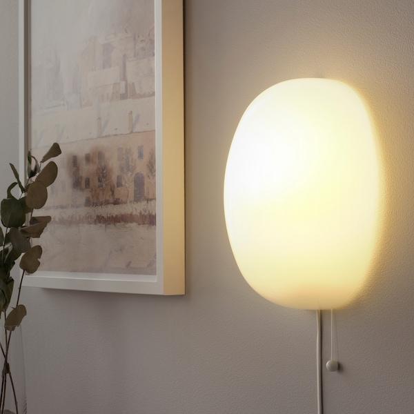 KALLBLIXT Væglampe, hvid glas