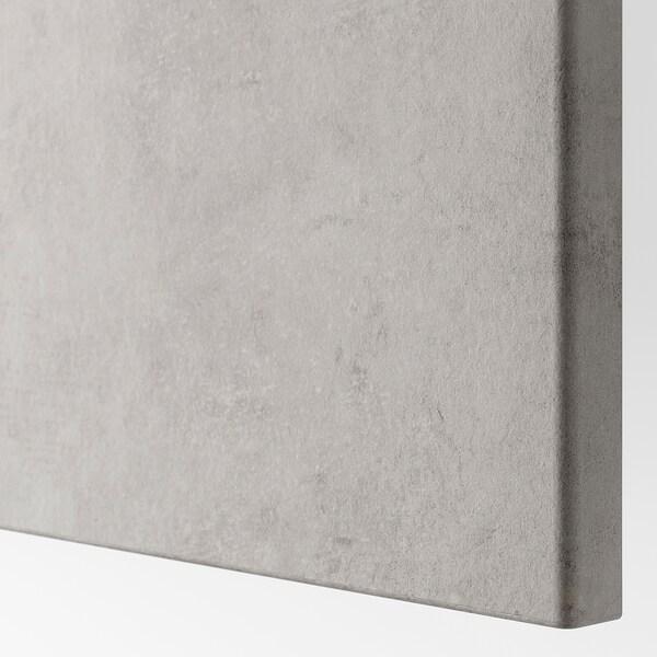 KALLVIKEN Låge, lysegrå betonmønstret, 60x64 cm