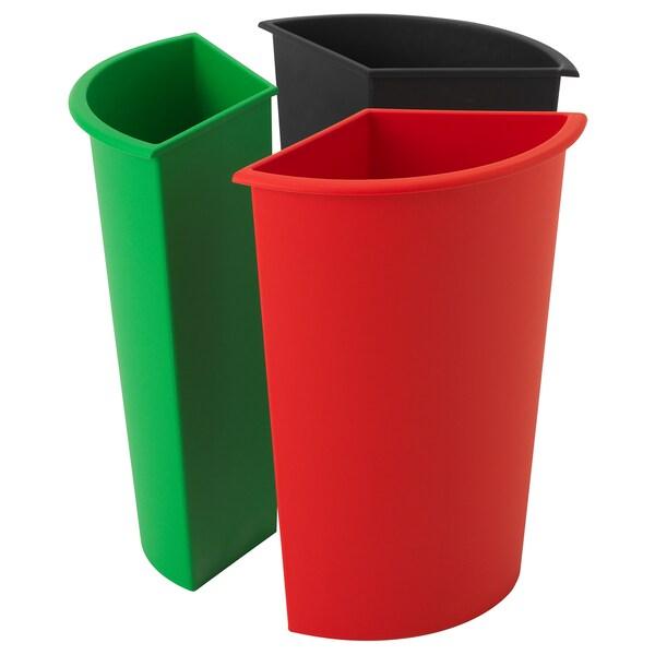 KARDORNA indsats til affaldssortering 31 cm 18 cm 42 cm 5 kg 7 l 3 stk