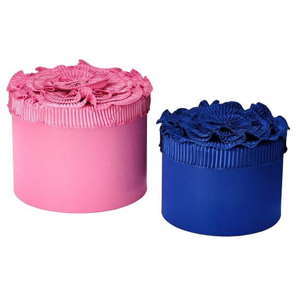 KARISMATISK Æske, sæt med 2, blå/pink