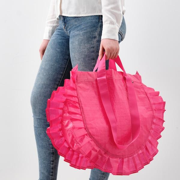 KARISMATISK Indkøbspose, medium, pink, 25 l