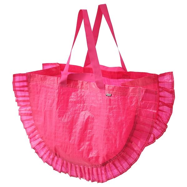 KARISMATISK Indkøbspose, stor, pink, 60 l