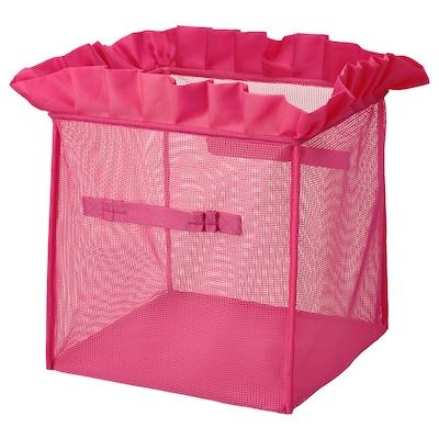 KARISMATISK Kasse, kan klappes sammen pink, 33x33x33 cm