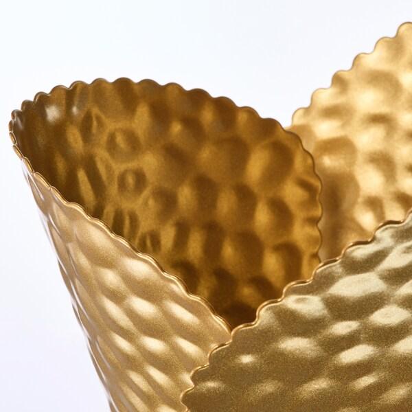 KARISMATISK Lampeskærm, guldfarvet