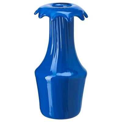 KARISMATISK Vase, blå, 23 cm