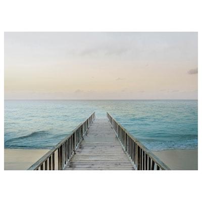 KATEBO Billede, bro på stranden, 70x50 cm